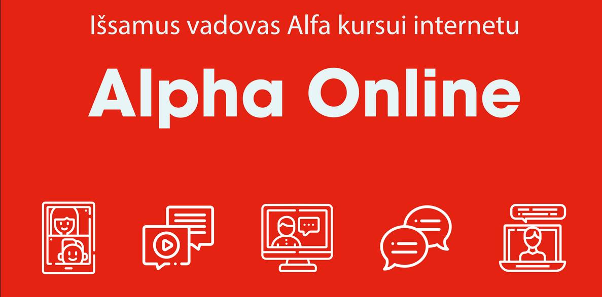 Įkelta medžiaga Alfa kursui internetu
